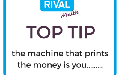 The machine that prints the money is you ……